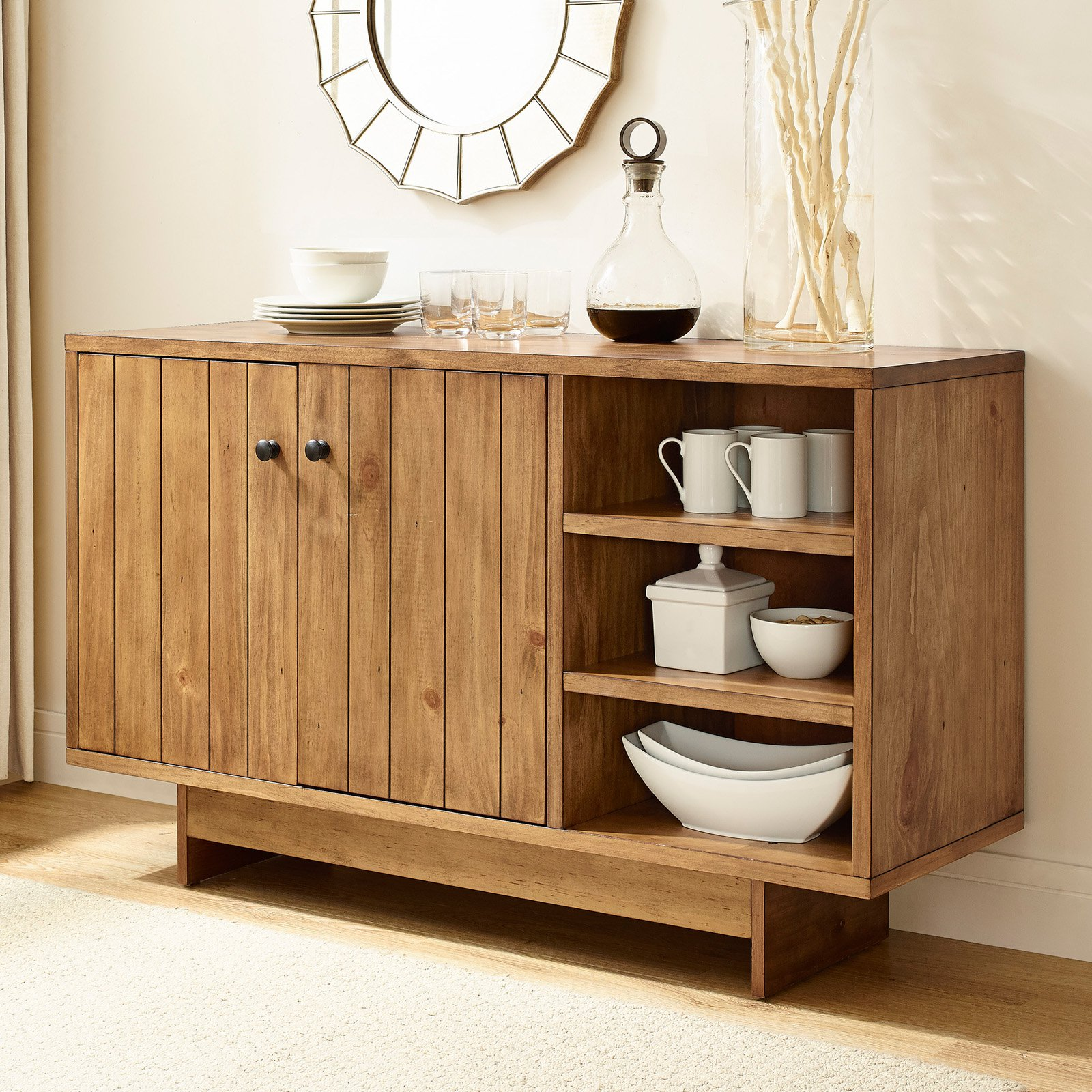 Crosley Furniture Roots Sideboard, Natural by Crosley Brands, Inc