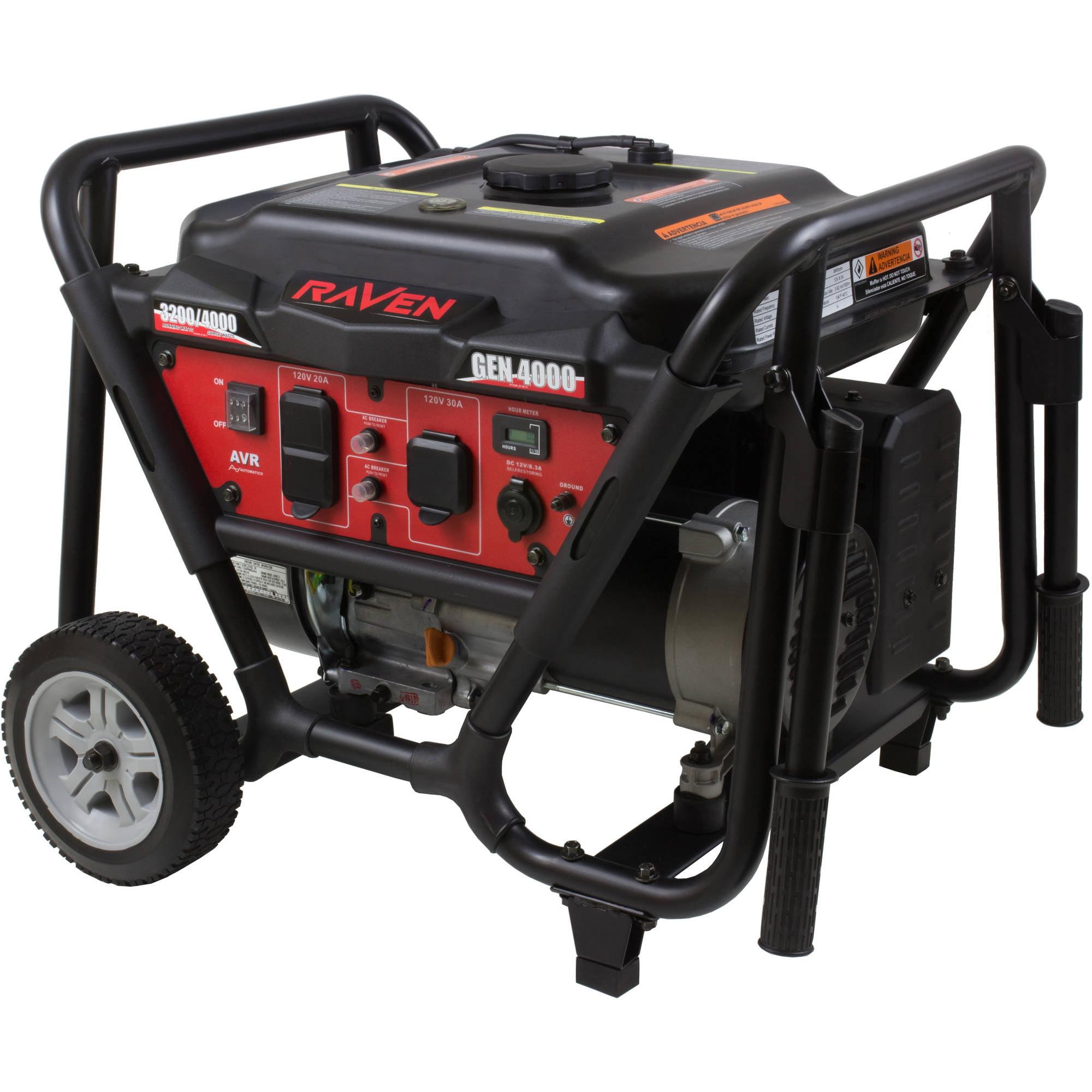 Raven 4000 Watt Generator with Wheel Kit Walmart