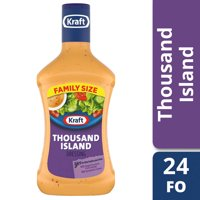 (2 Pack) Kraft Thousand Island Dressing, 24 Fl Oz Bottle