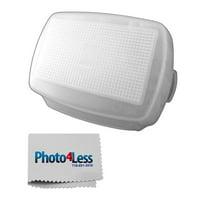 Zeikos ZE-HD900 Hard Flash Diffuser for Nikon SB-900 Flash (White) + Bonus Photo4less Cleaning Cloth!