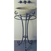 Quiescence ST-SNTMR-ORB Santa Maria Forged Iron Sink Pedestal- Oil Rubbed Bronze