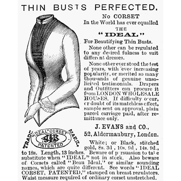 Advertisement: Corset. /Nadvertisement From An English