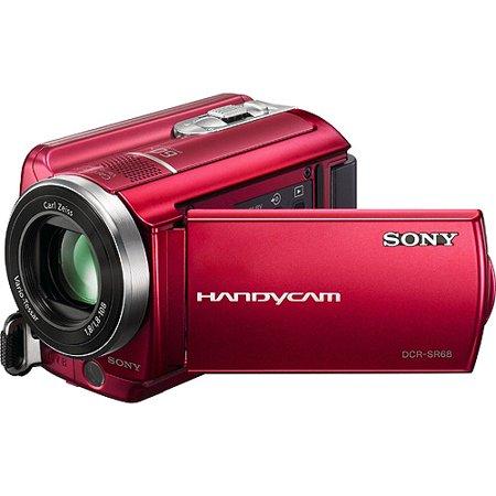 sony handycam sr68 red 80gb hard disk drive camcorder w 60x optical zoom. Black Bedroom Furniture Sets. Home Design Ideas