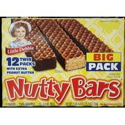 Little Debbie Nutty Bars Snacks, (2 Big Pack Boxes)