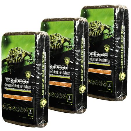 Galapagos  05009  Tropicoco Soil  Natural  8Qt Brick 3 Pack