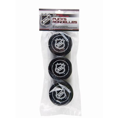 Franklin Sports NHL Foam Mini Hockey Pucks, 3 -