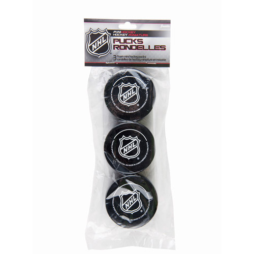 Franklin Sports NHL Foam Mini Hockey Pucks, 3 Pack