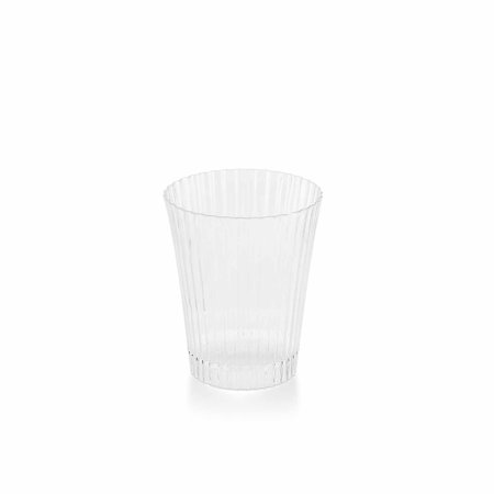 BalsaCircle Clear 24 pcs 3 oz Disposable Plastic Drink or Dessert Cups Glasses - Wedding Reception Party Buffet Catering Tableware Heisey Clear Glass