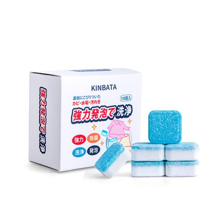 Comaie Washing Machine Tank Cleaning Agent Drum Type Washing Machine Cleaning Effervescent Tablets for Sterilization Household Decontamination Descaling - image 1 of 9