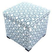 MJL Designs Sole Secret Geometric Storage Ottoman