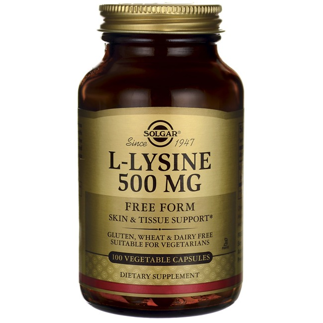 L-Lysine 500mg Solgar 100 VCaps