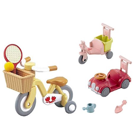 Best Japan Shopping - 2 Sets - Wheeled Vehicles - Bike with Training Wheels and Car with Tricycle Sets (Japan (Best Bike Trainer 2019)