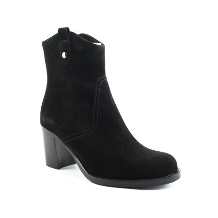 New La Canadienne Womens Phinn Black Suede Ankle Boots Size 6.5