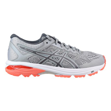 Asics GT-1000 6 Women's Shoes Mid Grey/Carbon/Flash Coral t7a9n-