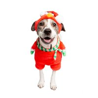 23f4a1316ee86 Product Image Pet Krewe PKSS00401XL Santa Elmo Walking Dog Costume - Extra  Large