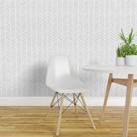 Peel-and-Stick Removable Wallpaper Grey And White Herrigbone Modern Chevron