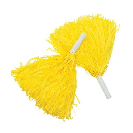 Spirit Pom-Poms - Yellow - Cheerleader Supplies