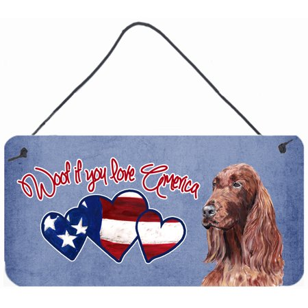 Woof if you love America Irish Setter Wall or Door Hanging Prints SC9918DS612
