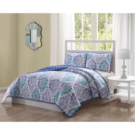 Quaint Home Asher Queen Reversible 3-Piece Quilt Set ()