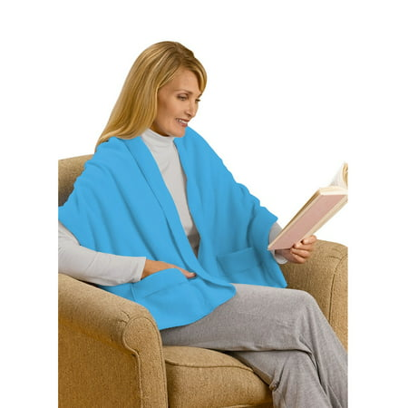 Unisex Fleece Scarf (Unisex Adult Shawl with Pockets - Polyester Fleece 20