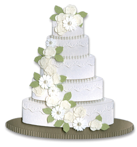Jolees By You Stickers, Wedding Cake Multi-Colored