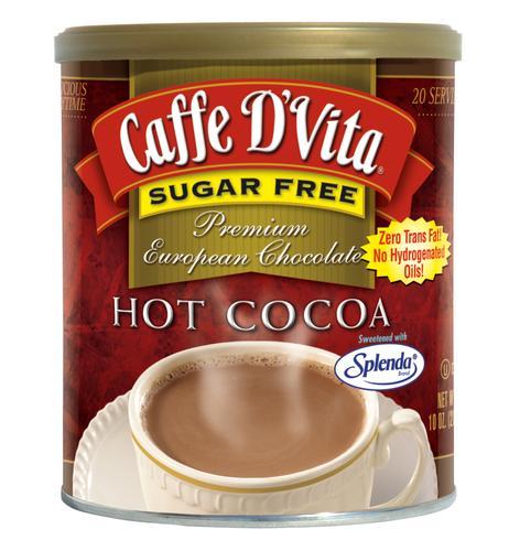 Caffe D'Vita Sugar Free Supreme Hot Cocoa 10oz Can by Caffe D'Vita