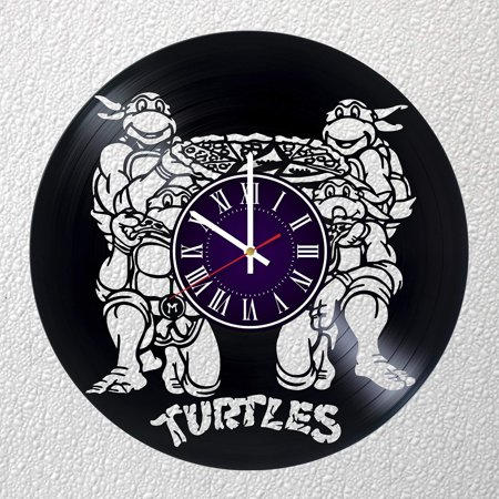 Identica Store Teenage Mutant Ninja Turtles Vinyl Record Wall Clock - Room Wall Decor - Art Gift Modern Home Record Vintage Decoration Gift for Him and Her - Gift for Fan Gifts for Boys Man Girls w ()