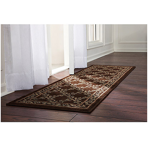 """Better Homes and Gardens Woven Trellis Rug, Brown, 21"""" x 66"""""""
