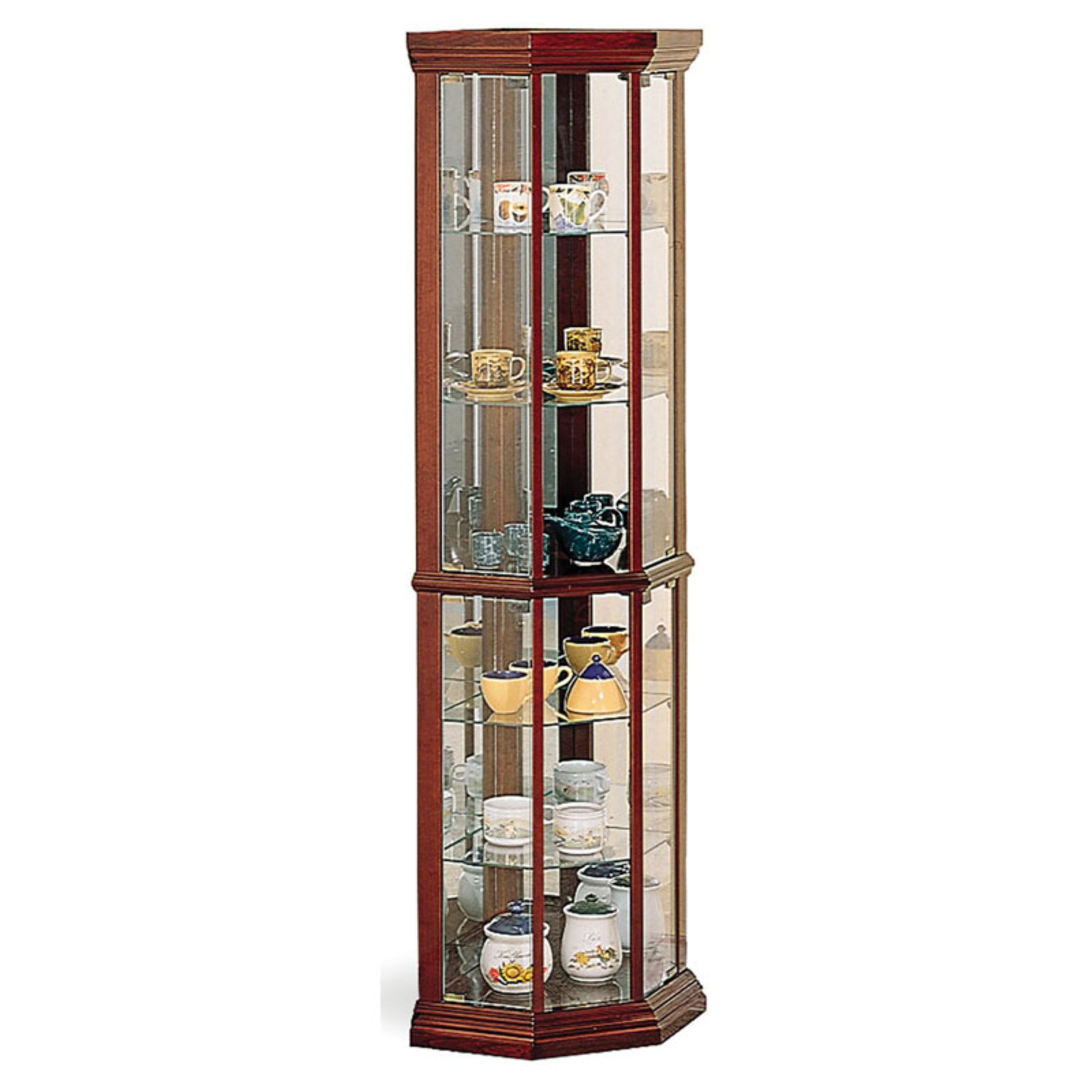 Coaster Company Corner Curio Cabinet, Medium Brown by Coaster Company