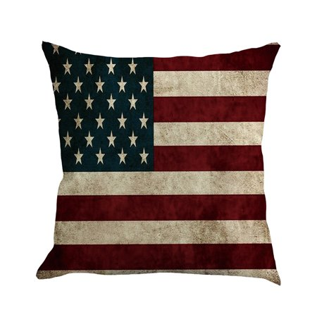 Independence Day Linen Pillowcase Sofa Pad Set Home Decoration for $<!---->