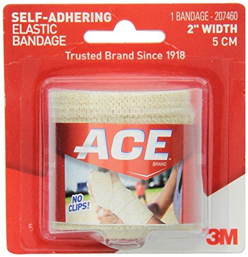 Ace Elastic Bandage, Self-Adhering, 2 Inch Width (Pack of 3)