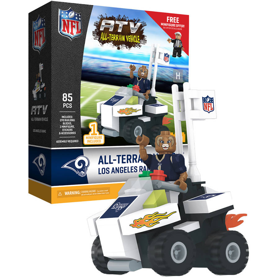 OYO Sportstoys NFL 4-Wheel ATV with Mascot, Los Angeles Rams