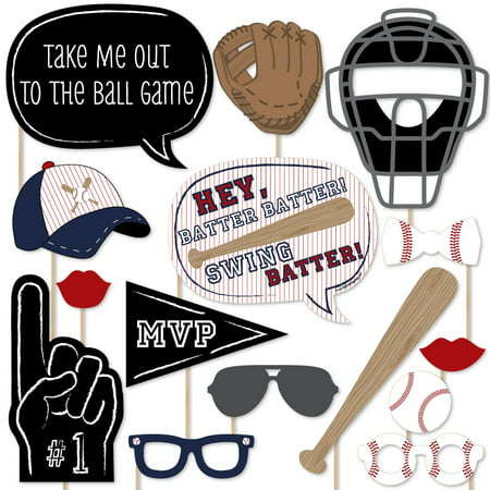 Batter Up - Baseball Photo Booth Props Kit - 20 Count](Photo Boot Props)