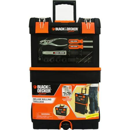 Black Amp Decker Junior Rolling 2 In 1 Toolcase Walmart Com