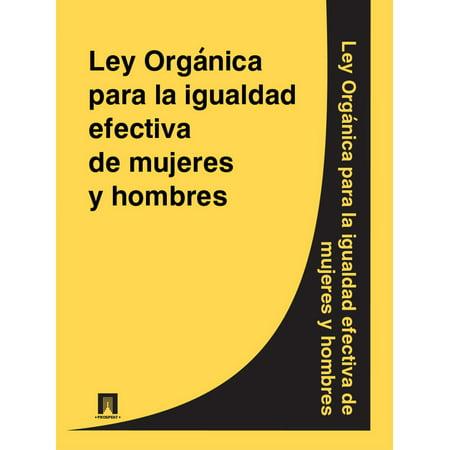 Ley Organica para la igualdad efectiva de mujeres y hombres - eBook - Ideas De Disfraces De Halloween Para Hombre