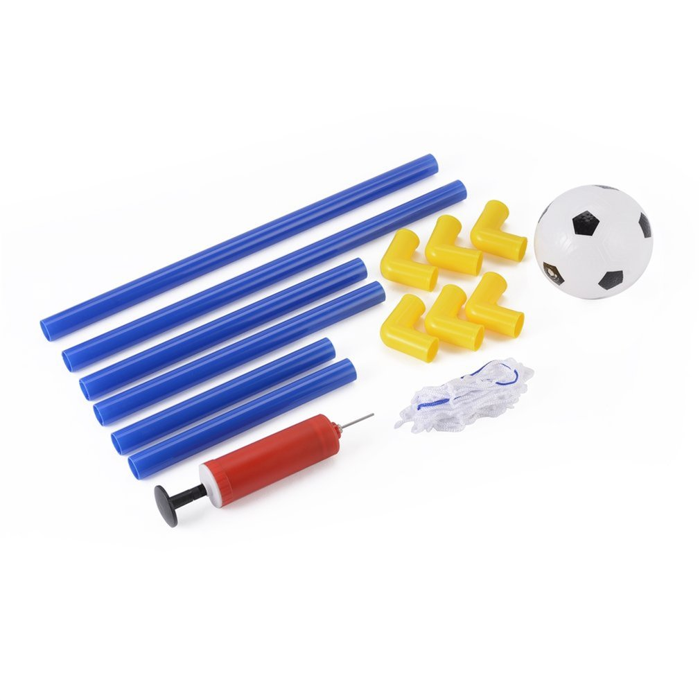 OUTAD Folding Mini Football Soccer Goal Post Net Set with Pump Kids Sport Toy by