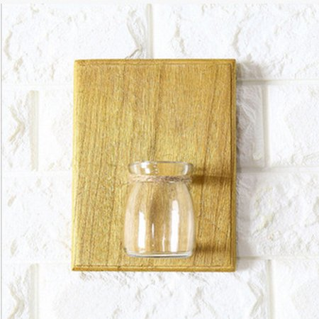 Creative Home Wall Decoration, Wooden Wall Hanging Plant Terrarium ...