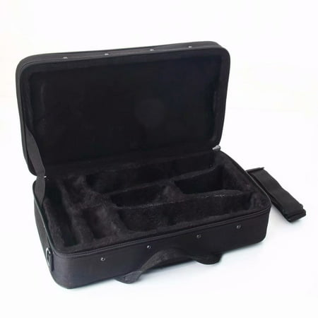 Portable Lightweight Square Messenger Case for Clarinet Black ()