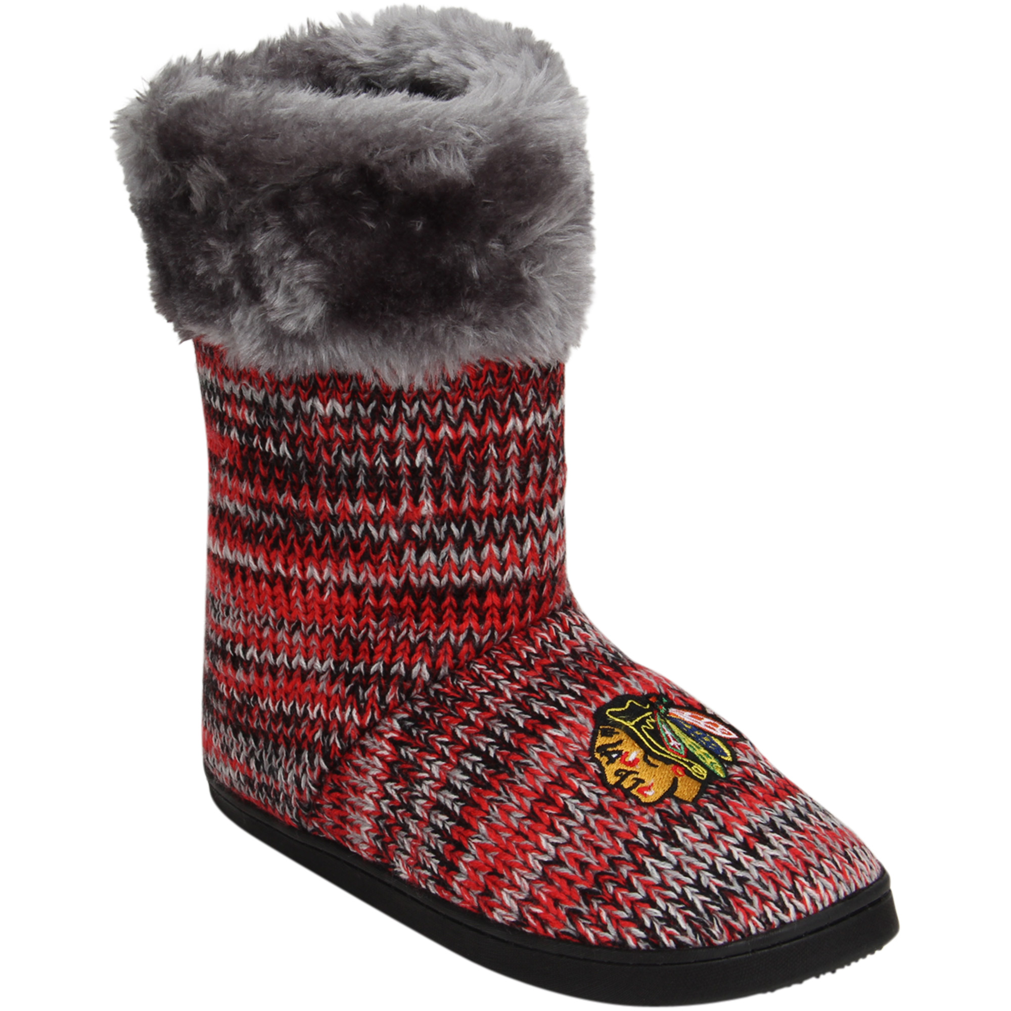 Chicago Blackhawks Women's Peak Knit Boots by TEAM BEANS INC/FOREVER COLLECTIBLES