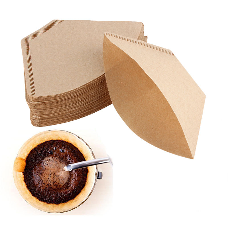 100 Replacement #2 Coffee Filters Premium Unbleached, All Natural, High Quality Brew Brown Paper Cone, Fits... by