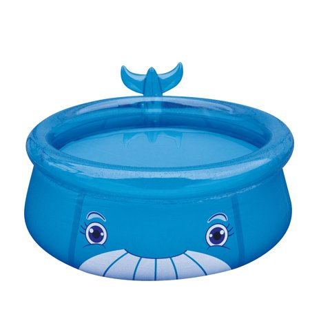 """69"""" Blue Inflatable Whale Above Ground Children's Swimming Pool"""