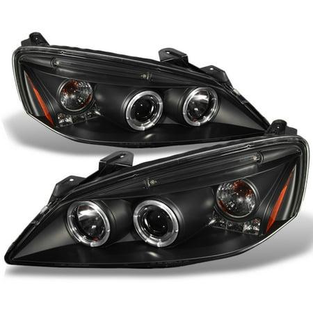 Fits 05-10 Pontiac G6 Black Bezel Dual Halo Projector Headlights Front Lamps