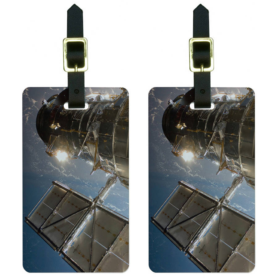 Hubble Telescope Astronomy Space Luggage Tags Suitcase Carry-On ID, Set of 2
