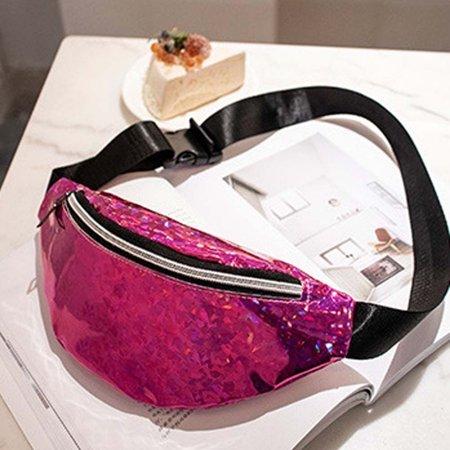 34abb6bf734 Fashion Waist Fanny Pack Women PU Leather Belt Zipper Waist Bag Chest Tote  Purse Red