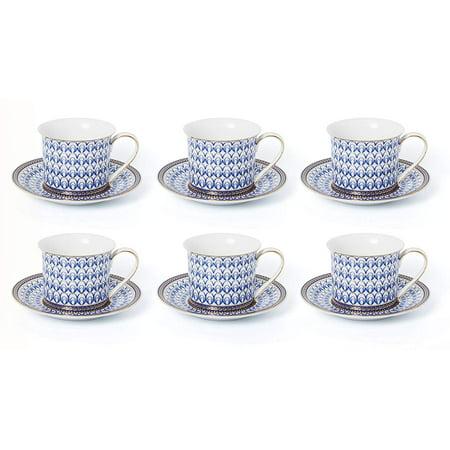 Porcelain Tea Coffee Cup (Royalty Porcelain 12-pc Luxury