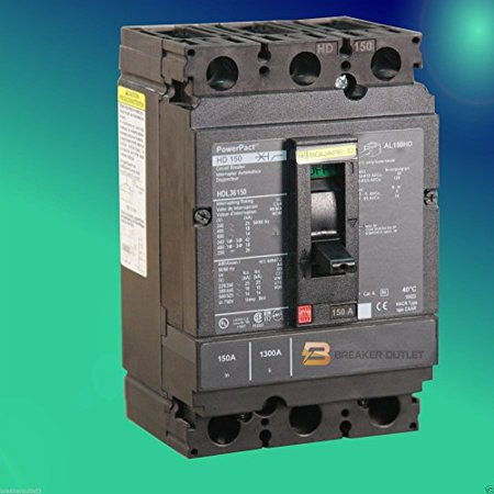 Square D HJL36100 3 Pole 100 Amp 600v 65kA PowerPact Circuit Breaker
