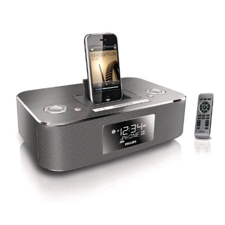 Philips DC290B/37 30-Pin iPod/iPhone Alarm Clock Speaker Dock (Aluminum)  (Discontinued by Manufacturer)