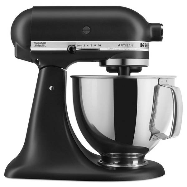 KitchenAid RRK150BM 5 Qt. Artisan Series - Black Matte (Certified Refurbished)