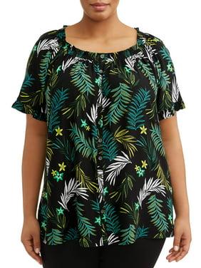 db02e5af Womens Plus Tops & T-Shirts - Walmart.com