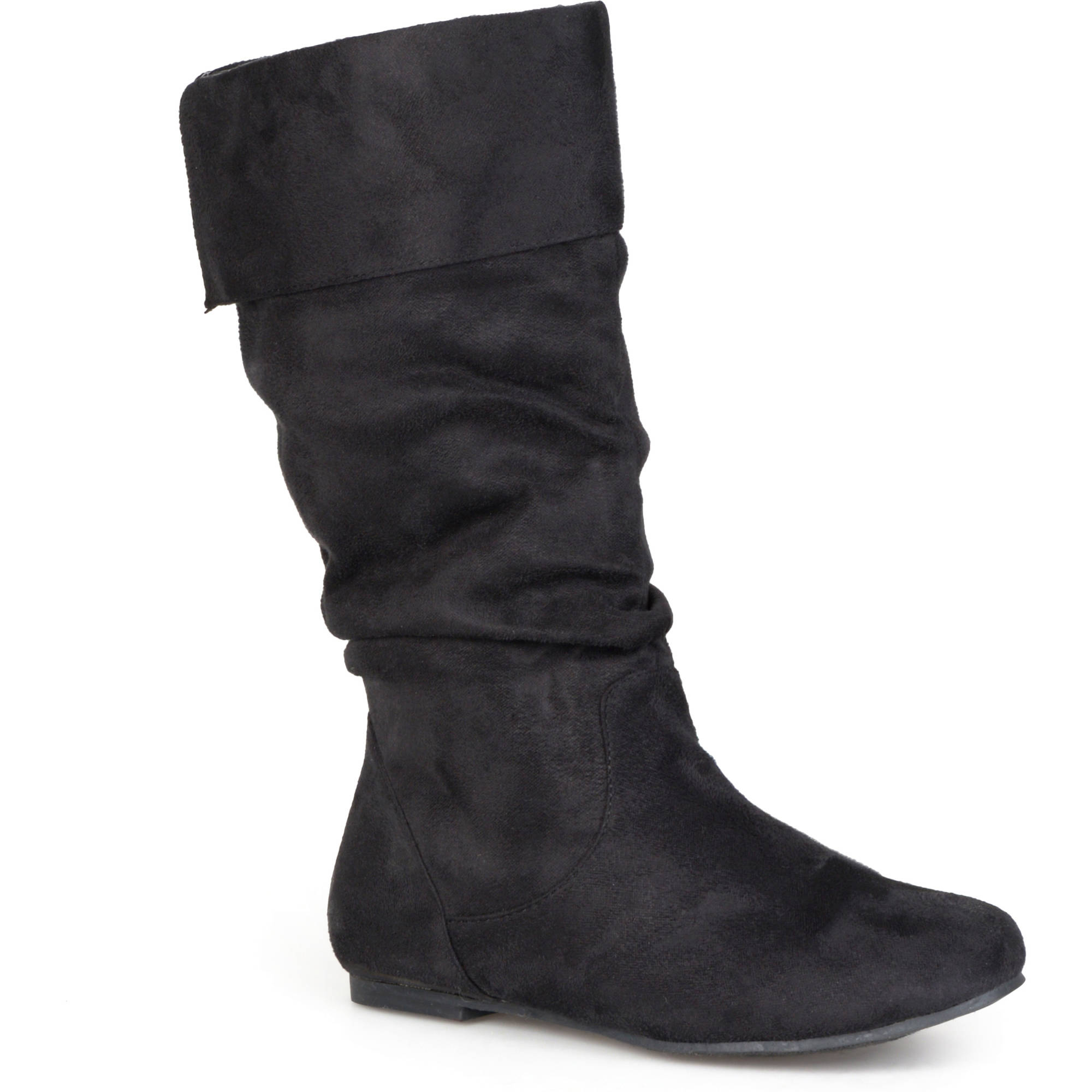 brinley co womens wide calf microsuede slouch boots